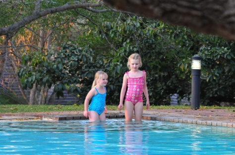 Megan and Maia braving the chilly water (in the middle of winter)