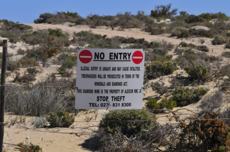 Friendly reminder not to trespass, Port Nolloth