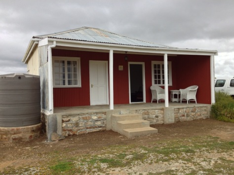 Sinkhuisie (Tin House) accommodation at De Lande farm
