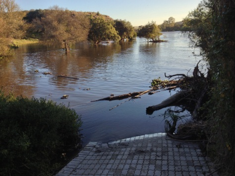 Flooded pathways at Bontebok National Park