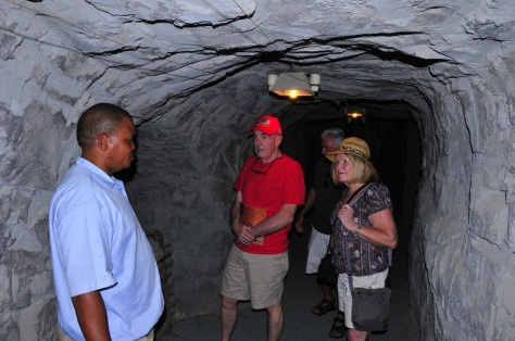 """Deep down"" in the recreated mine tunnel"