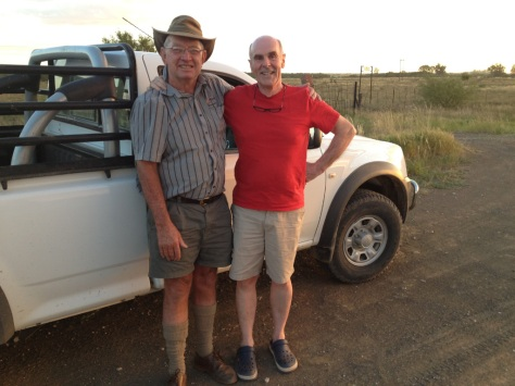 "John's new-found friend and local farmer - ""SF"" Marais"