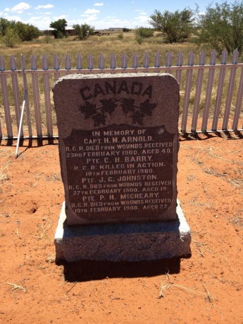 Paardeberg - Canadian cemetery