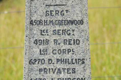 Lance Sergeant R Reid commemorated