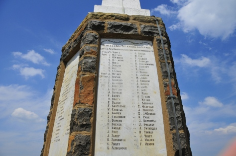 One of the British memorials at Spioenkop