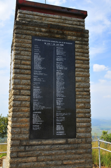 Monument to the Boers at Spioenkop