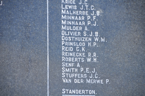CK Reid from Pretoria commemorated on the Boer memorial