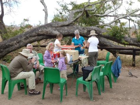 Muzandzeni picnic spot - brunch being prepared