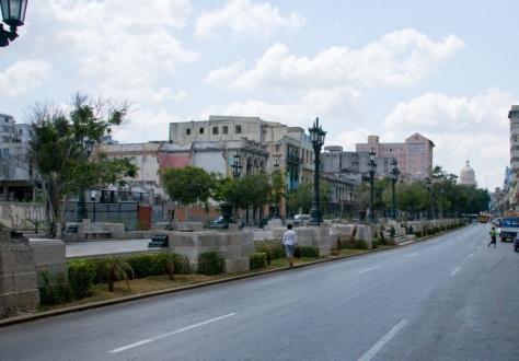A main boulevard in Havana