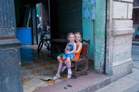 Maia and Megan taking in the Havana vibe