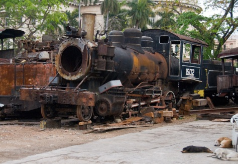"Train ""museum"" central Havana"