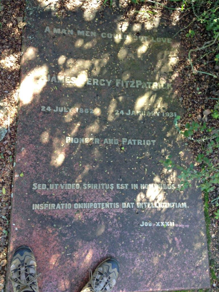 The grave of Percy Fitzpatrick