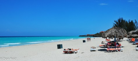 The beach at Varadero