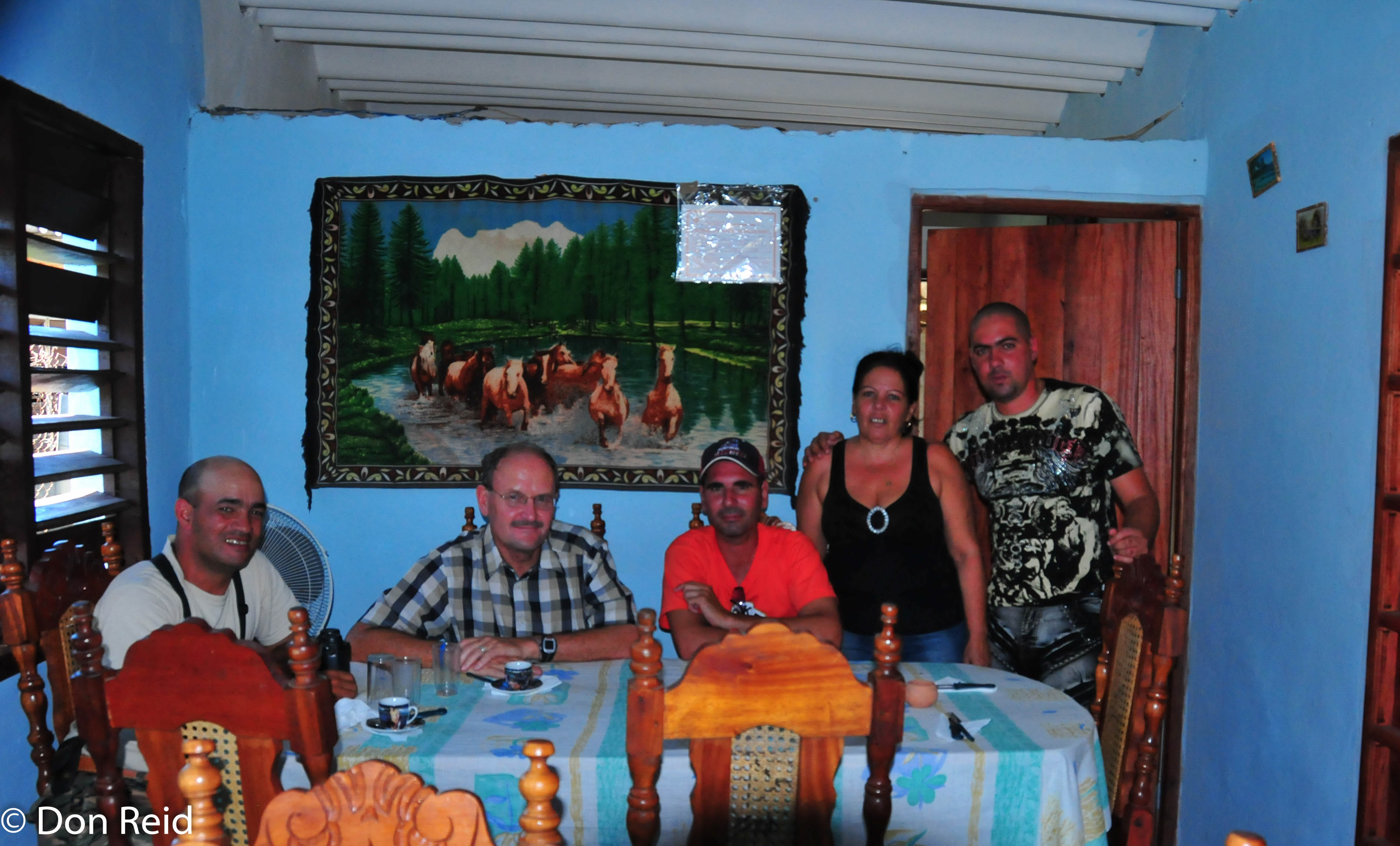 Ernesto and Don with the driver and the husband and wife who run the home restaurant