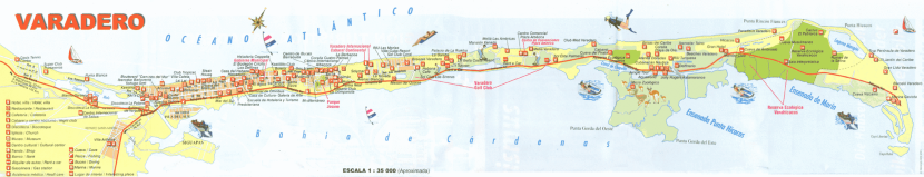 The Varadero peninsula is like a long finger jutting out from the northern shores of Cuba