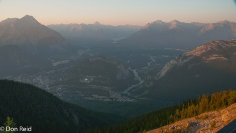 Banff far below