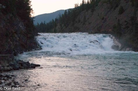 Bow Falls at dusk