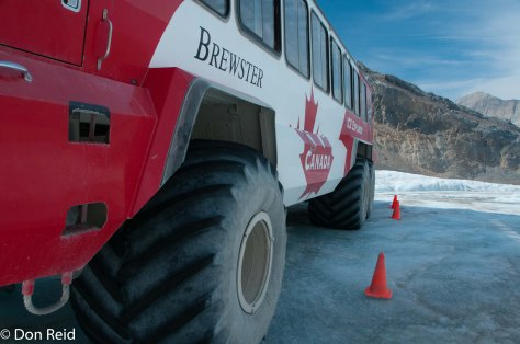Big soft tyres handle the ice with ease