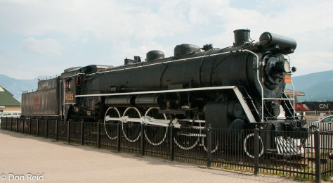 Old steam loco in Jasper - nicely maintained