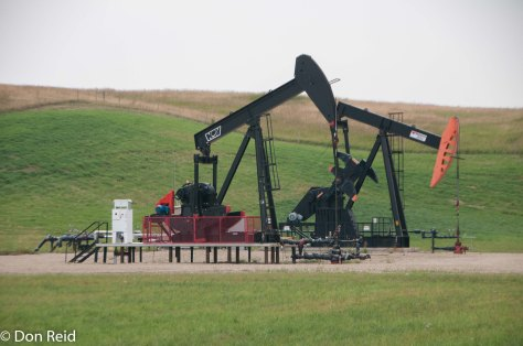 Pump jack at work near Calgary