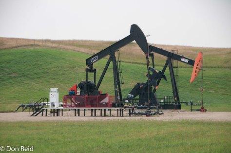 Pump jack at work near Calgary