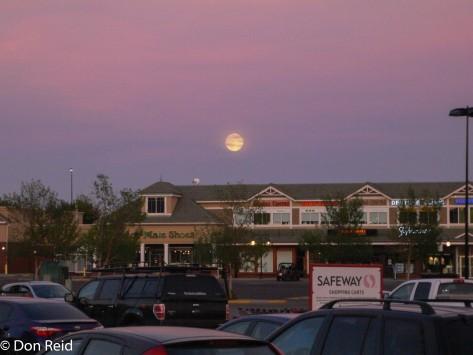 Moon over Calgary