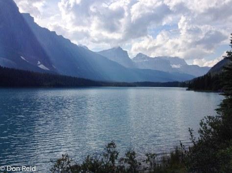 Lake at roadside