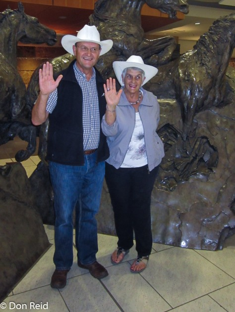 The White Hat ceremony at Calgary airport - what a nice welcome!