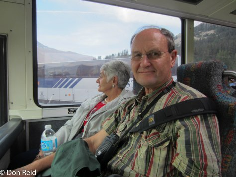 Don and Gerda on the bus