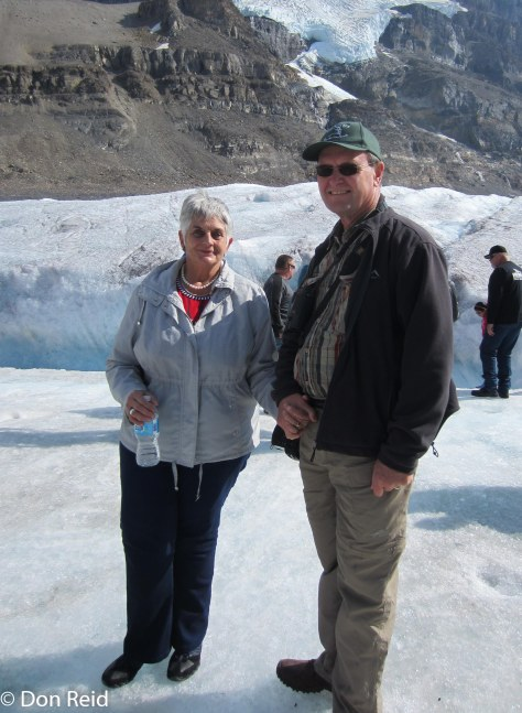 Gerda and Don on the glacier