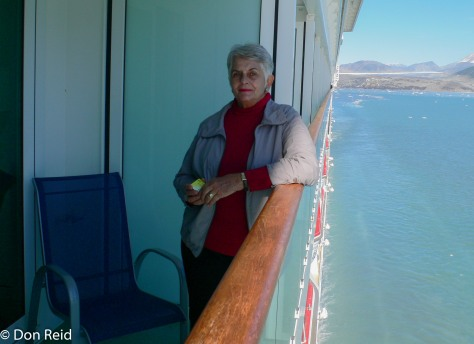 Gerda enjoying the merry go round