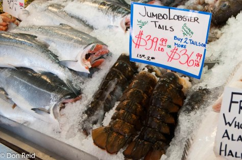Pike Place Market - lobster anyone? Just R1,000 a kilo