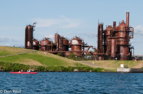 The old gasworks (1906 - 1956) now part of a park