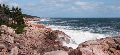 A wild part of coastline along the Cabot Trail