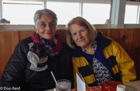 Gerda and Sam enjoyed the lunch at the Chowder House