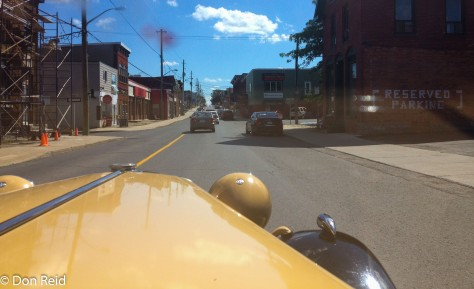 Taking the MG through Alexandria Ontario