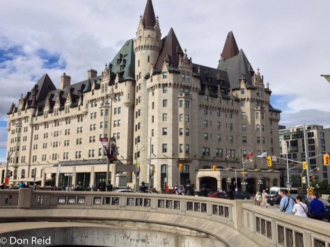 Ottawa - the distinctive Fairmont Chateau Laurier hotel