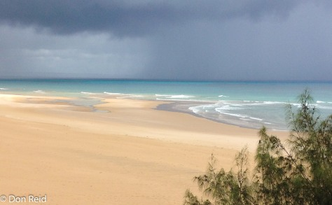 The wide expanse of sand on Lighthouse beach Barra