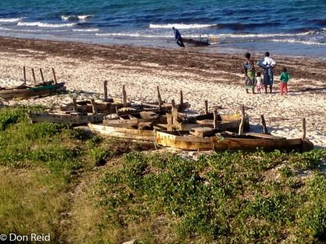 Inhassoro - home made fisherman's boats (Photo ; George Skinner)