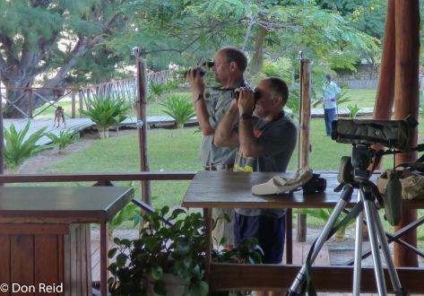 Dedicated birders - Don and Bruce, Inhassoro (Photo : Corne Rautenbach)