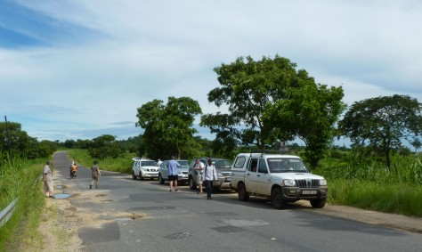A stop on the road near Gorongosa