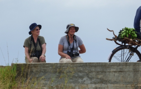 Kathrin and Edith enjoy a rest at Rio Savane (Photo : Corne Rautenbach)