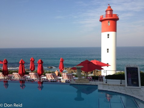 Oyster Box Hotel, Umhlanga - the view at lunchtime