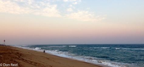 La Lucia beach in the evening