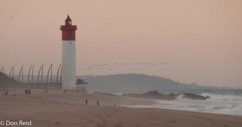 The iconic lighthouse at Umhlanga Rocks