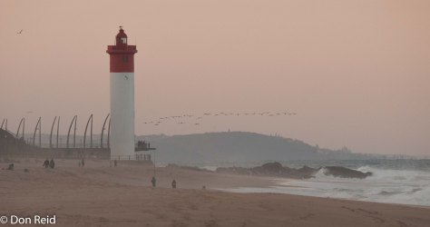 The iconic lighthouse at Umhlanga Rocks