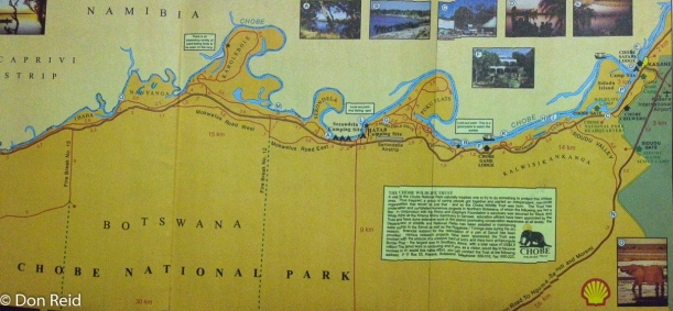 Map of the Riverfront section of Chobe
