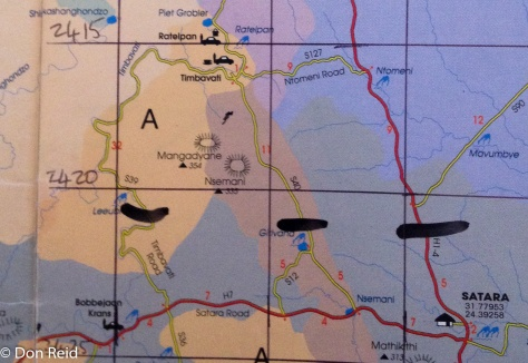Satara to Timbavati routes