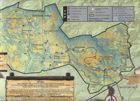 Map of Karoo NP