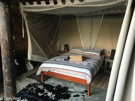 The rustic cabin at Caprivi Houseboat Lodge